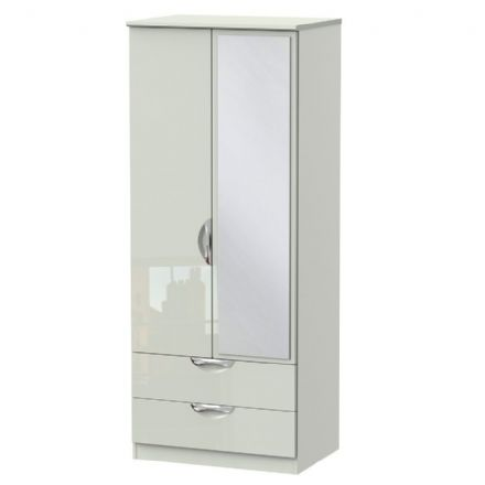 Camden Tall 2 Drawer Mirror Robe